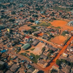 aerial view of african city